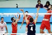 تیم ملی والیبال ایران ست اول را به برزیل واگذار کرد