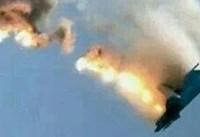 سقوط  یک فروند جنگنده عربستان در جنوب یمن