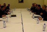 دیدار جابری انصاری با روسای هیاتهای روسیه،سوریه و ترکیه در  نشست آستانه ۶