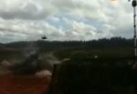 شلیک اشتباه بالگرد روس به چند خودرو در جریان تمرین نظامی