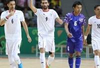 راهیابی تیم ملی فوتسال به نیمهنهایی با شکست تایلند