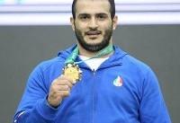 سهراب مرادی رکورد  شکست و طلا گرفت/یک رکورد جهانی دیگر برای ایران