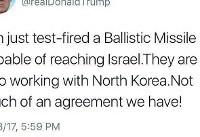 واکنش ترامپ به آزمایش موشکی ایران: دست ایران و کره شمالی در یک کاسه است!