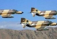 پرواز جنگندههای ارتش بر فراز مرزهای غربی کشور
