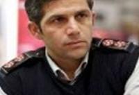 اطفای حریق در دبستان دخترانه نظام آباد تهران