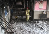آتش سوزی مدرسه دخترانه قبل از حضور دانش آموزان