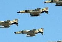 حضور پرقدرت جنگندههای نیروی هوایی ارتش در رزمایشهای ارتش و سپاه