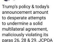 واکنش ظریف به زیادهخواهیها و تهدیدات ترامپ/ برجام قابل مذاکره نیست