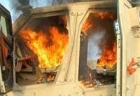 انهدام ۲ خودروی مزدوران سعودی در