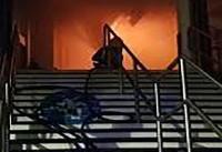آتش سوزی ایستگاه قطار ناتینگهام در بندر لیورپول + فیلم