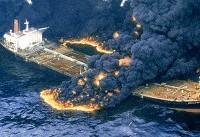 ویدئویی از لحظات اولیه برخورد کشتی چینی با نفتکش سانچی و انفجار