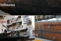 کشتی کریستال و آثار به جامانده از انفجار+عکس