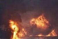 گسترش آلودگی نفتی نفتکش سانچی در دریای چین