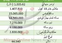 افزایش قیمت سکه/ دلار گران شد+ جدول قیمت