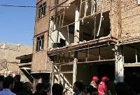 ۱۲ مصدوم بر اثر انفجار ساختمان مسکونی در اسلامشهر