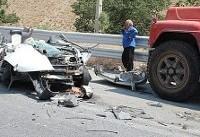 تصادف تریلی و پراید۳ کشته و یک زخمی برجای گذاشت (+عکس)