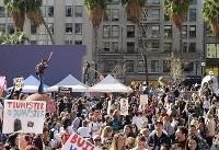 بازیگران به راهپیمایی مردم پیوستند