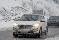 بارش برف در ۷ محور مواصلاتی کشور