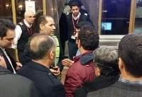 تحصن مسافران پرواز مشهد- تهران در فرودگاه هاشمینژاد