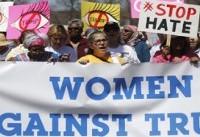 تظاهرات زنان آمریکا در سالگرد ریاست جمهوری ترامپ