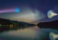 فیلم| نورافشانی چشمنواز ابرهای شبتاب در آسمان ژاپن