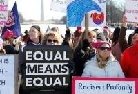 تظاهرات سراسری زنان آمریکا علیه سیاستهای ترامپ (+عکس)