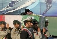 تشییع پیکر شهید سانحه ناو دماوند در انزلی (عکس)