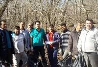 بخشی از زبالههای پارک ملی گلستان پاکسازی شد+عکس