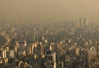 هوای تهران ناسالم است/ شاخص آلودگی ۱۲۳