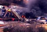 انفجار در چاه گاز اکلاهمای آمریکا