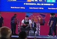 نادر مرادی به مدال نقره رقابت های وزنهبرداری دست پیدا کرد