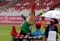 بهاروند مدال طلای پرتاب وزنه مردان را بر گردن آویخت/ هاجر صفرزاده در دوی صدمتر برنزی شد