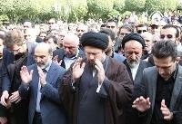 سیدحسن خمینی بر پیکر مرحوم بهرام شفیع نماز خواند +تصاویر