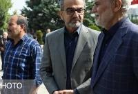 عکس | مجری سرشناس تلویزیون در مراسم تشییع بهرام شفیع