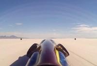 سریعترین خودروی چرخدار زمین/  سرعت ۸۰۴ کیلومتر بر ساعت