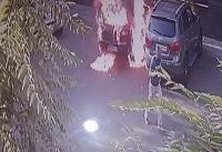 خواستگار کینهجو، خودروی دختر مورد علاقه را به آتش کشید(+عکس)