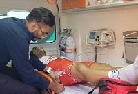 رکابزن ملیپوش پس از قهرمانی تحت مداوا قرار گرفت
