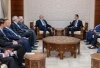 بشار اسد در دیدار با وزیر خارجه عراق | شرایط به شکل مثبت در حال تغییر است