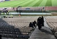 حضور بانوان پلیس در ورزشگاه آزادی تهران (+عکس)/ فراهم شدن مقدمات حضور خبرنگاران خانم