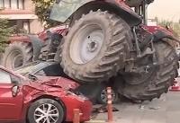 پلیس آنکارا راننده تراکتور مهاجم را از پای درآورد + فیلم
