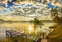 طلوع طلایی در کنار رودخانه! +عکس