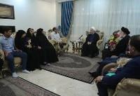 دیدار صمیمی روحانی با خانواده جانباز ۷۰ درصد دوران دفاع مقدس