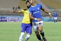 برتری پارس جنوبی مقابل استقلال خوزستان در پایان نیمه اول
