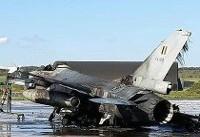 جنگنده اف-۱۶ بلژیک به اشتباه به آتش کشیده شد