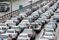 ترافیک نیمه سنگین  در آزادراه کرج_قزوین/ مسدود شدن محور اولنگ –شاهرود