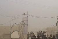 گردوغبار شدید در مرز شلمچه (عکس)