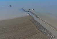 کانال ۲۰ کیلومتری برای پرورش میگو +عکس