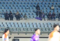 بانوان خرمشهری تماشاگر بازی لیگ یک (عکس)