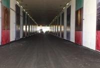 بنرهای ویژه در تونل ورودی بازیکنان/ ۱۸ هزار در آزادی + تصاویر