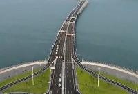 ویدئو / اتمام ساخت طولانیترین پل دریایی جهان در چین